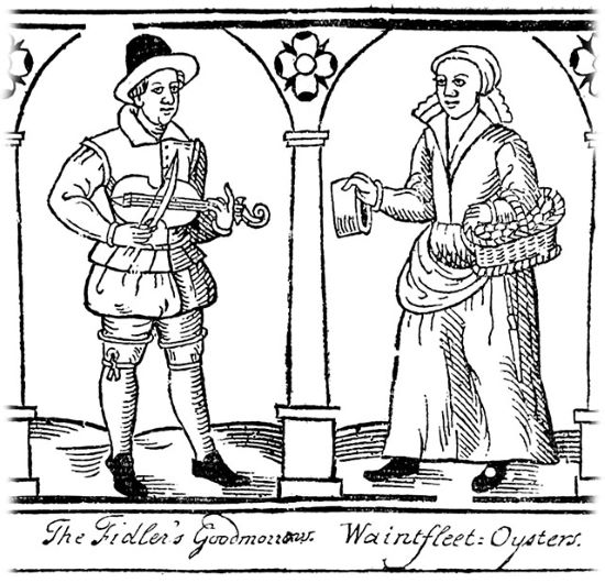 Two street sellers from the Pepys Collection
