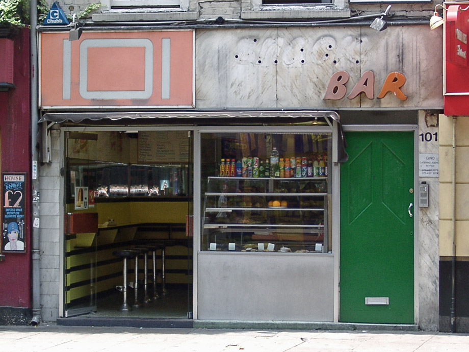 101 snack bar, Charing Cross Road