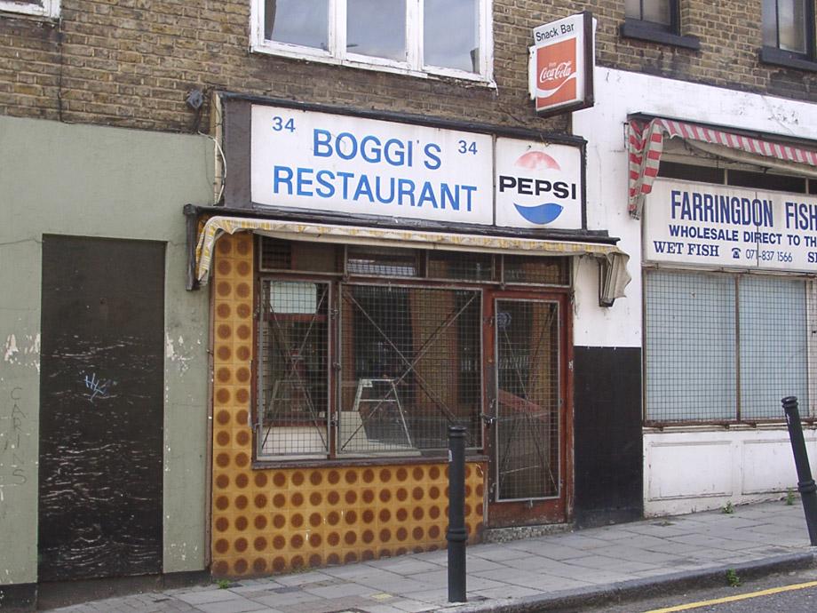 Boggi's cafe, Farringdon