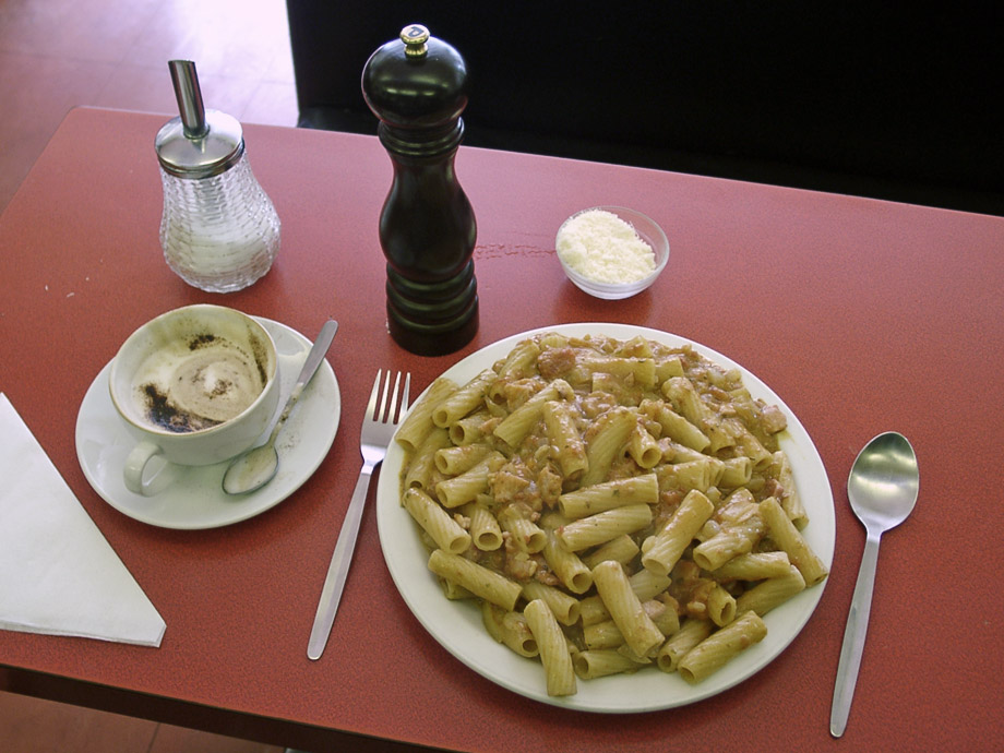 Plate of pasta at the Centrale