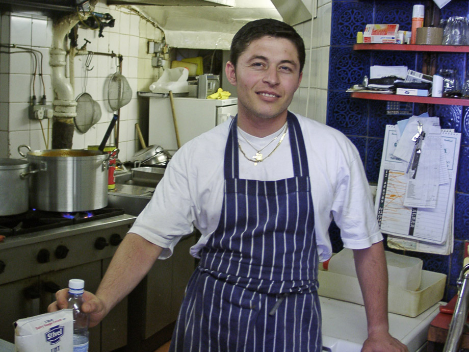 Nick the chef at the Centrale