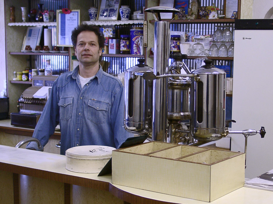Johnny, proprietor of the Italian Restaurant