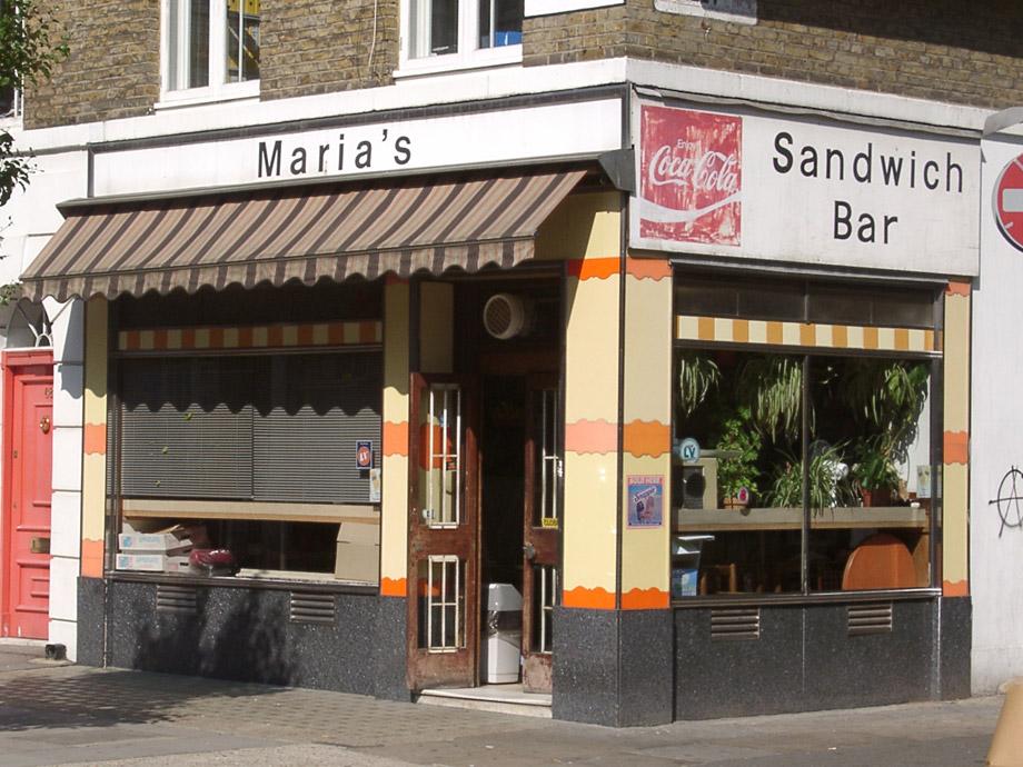 Maria's cafe, Fitzrovia