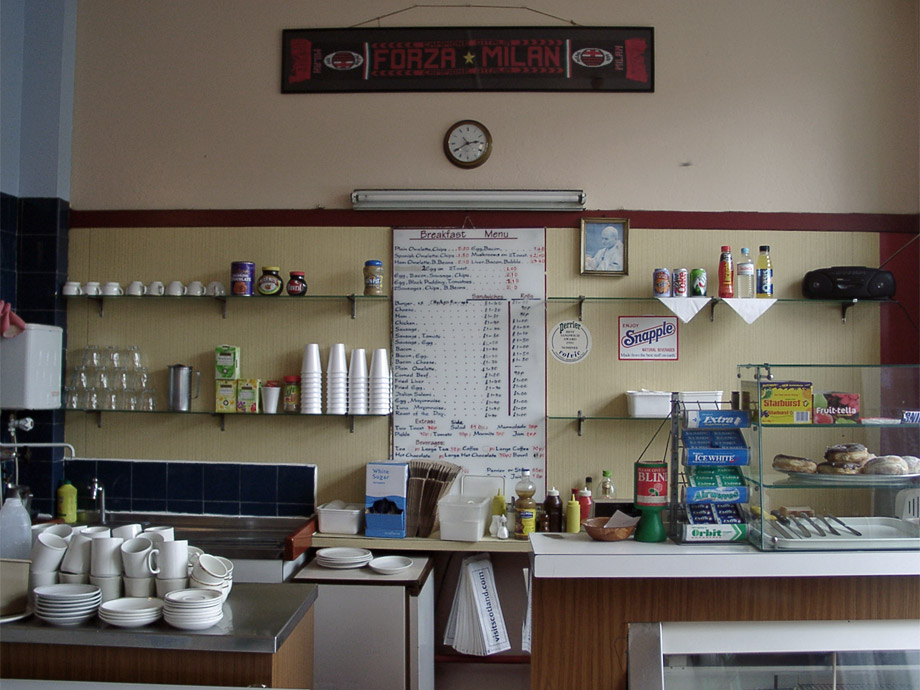 Inside the Railway Cafe
