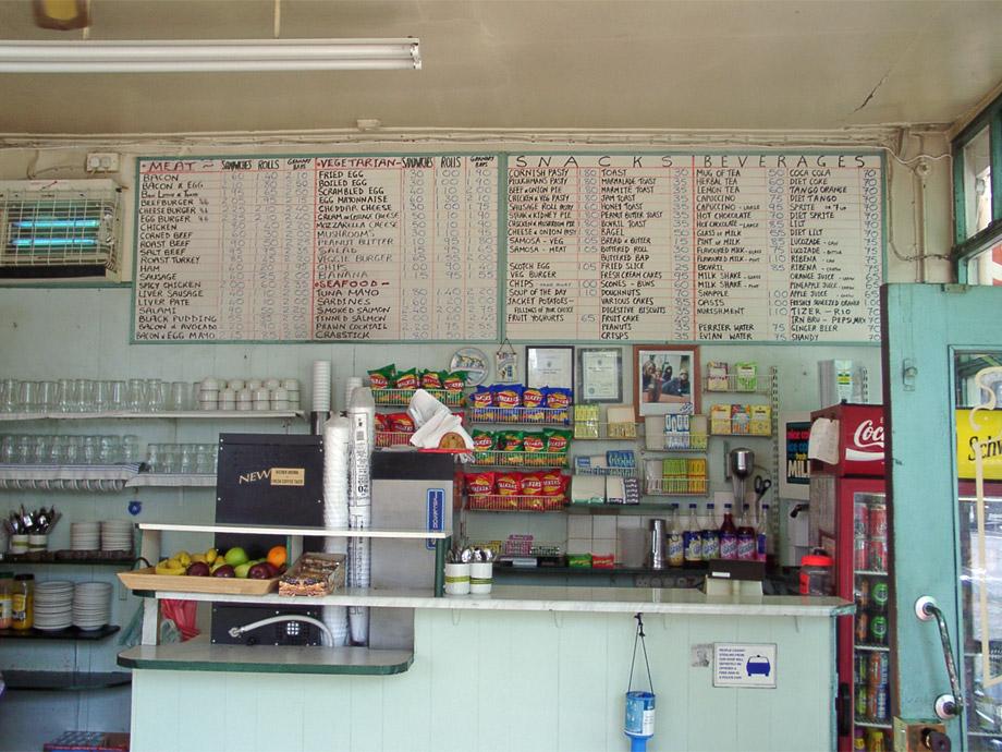 Inside the Shepherdess cafe