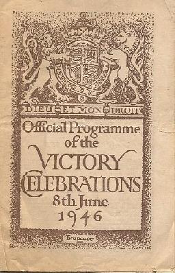 1946 victory celebrations programme