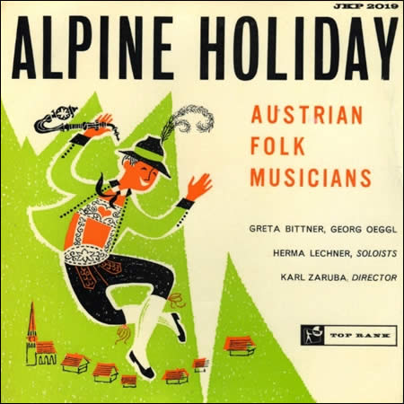 Alpine Holiday, cover of 7-inch single from 1959