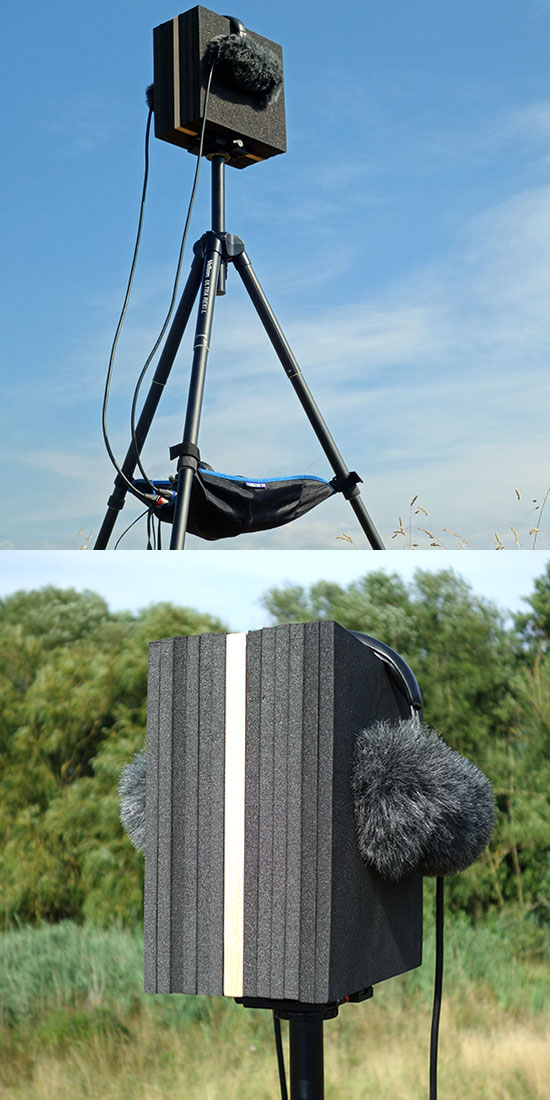 The Block acoustic baffle in use outdoors