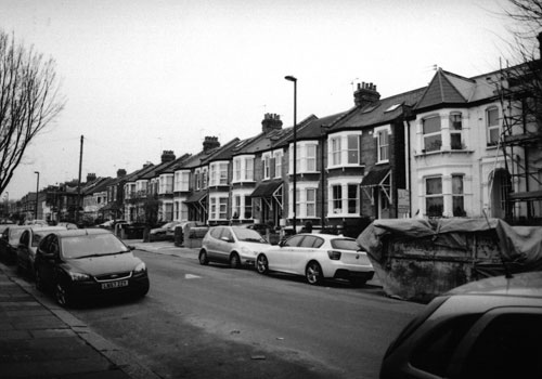 A typical residential street in Bowes, Enfield
