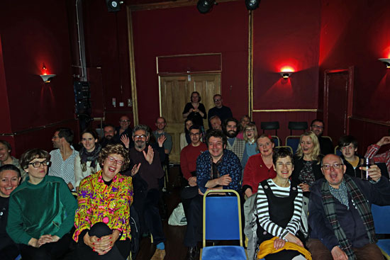 Audience at the Marlborough pub and theatre in Brighton