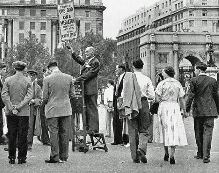 The Society of Evangelizing London, Speakers Corner, 1938
