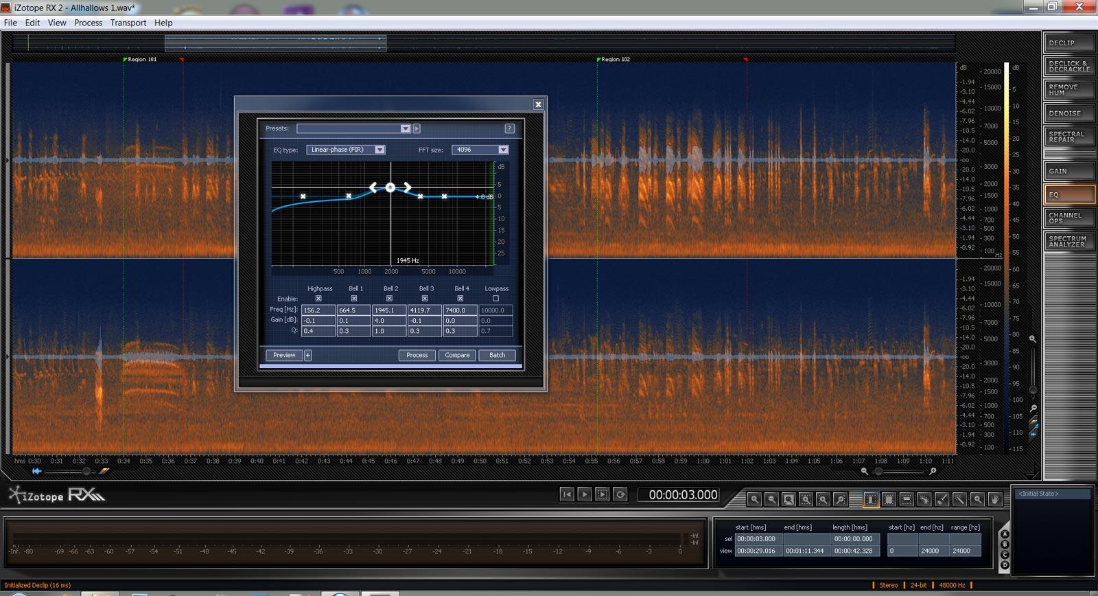 Izotope RX2 screenshot
