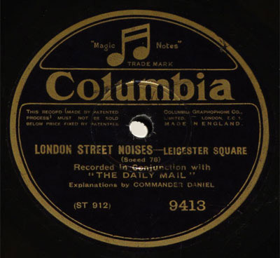 Leicester Square side of London Street Noises disc