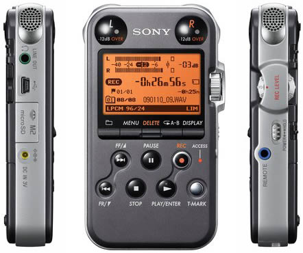 Sony PCM M10 front and side