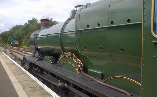 Picture of the Pitchford Hall locomotive at North Weald