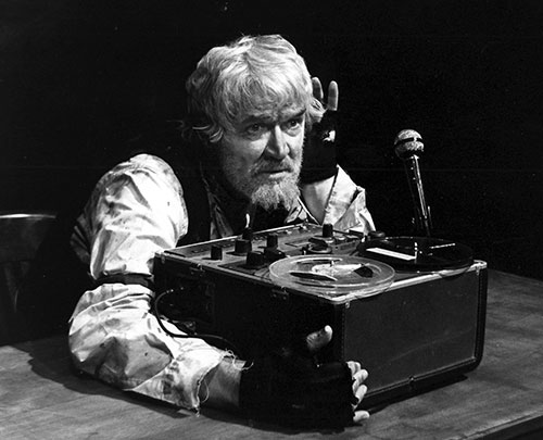 Scene from the play Krapp's Last Tape, by Samuel Beckett