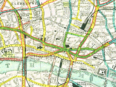 London Road Surface Map 1909
