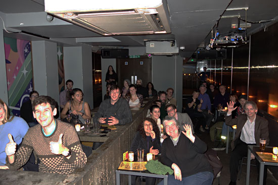 Audience at The Social bar in London