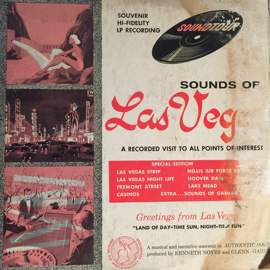 Front sleeve cover of early 1960s Las Vegas souvenir EP