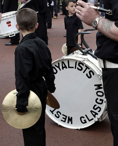 Loyalist marching band in Glasgow