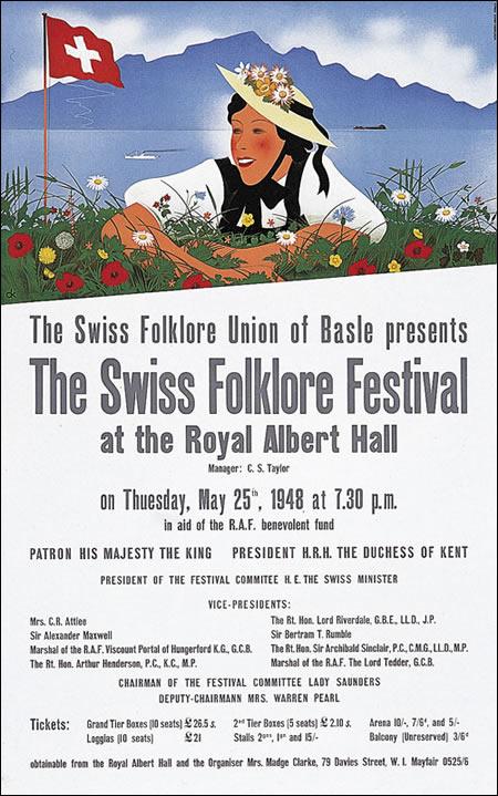 Swiss Folklore Festival 1948 poster