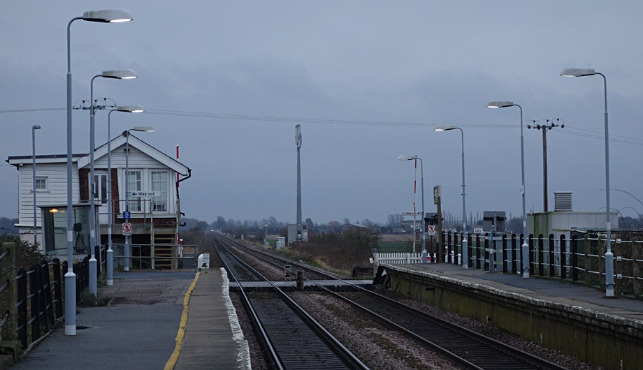 Photo showing Shippea Hill station, view facing eastwards.