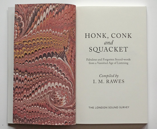 End paper and title page of Honk Conk and Squacket