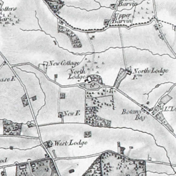 Ordnance Survey First Series map for Enfield Chase