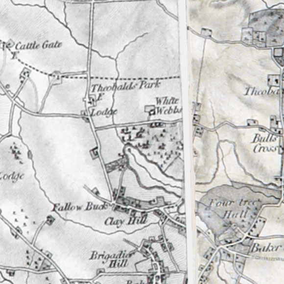 Ordnance Survey First Series map for Crows Hill, Clay Hill