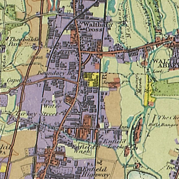 London map 1930s Land Utilisation Survey for Turkey Street, Enfield Lock