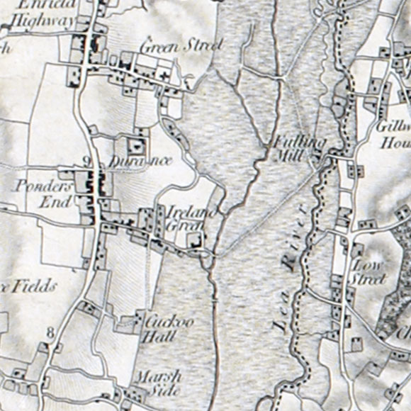 Ordnance Survey First Series map for Ponders End, North Chingford