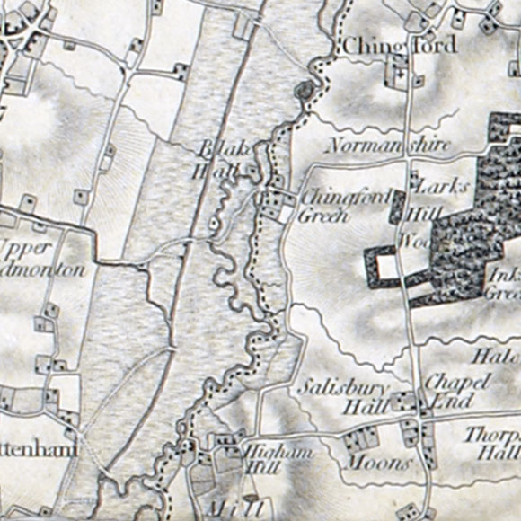 Ordnance Survey First Series map for South Chingford, Higham