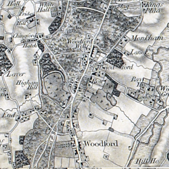 Ordnance Survey First Series map for Hale End, Woodford
