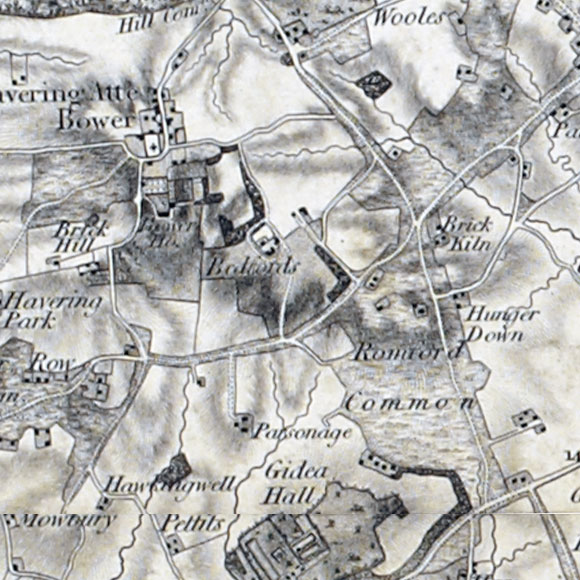 Ordnance Survey First Series map for Havering-atte-Bower, Gallows Corner