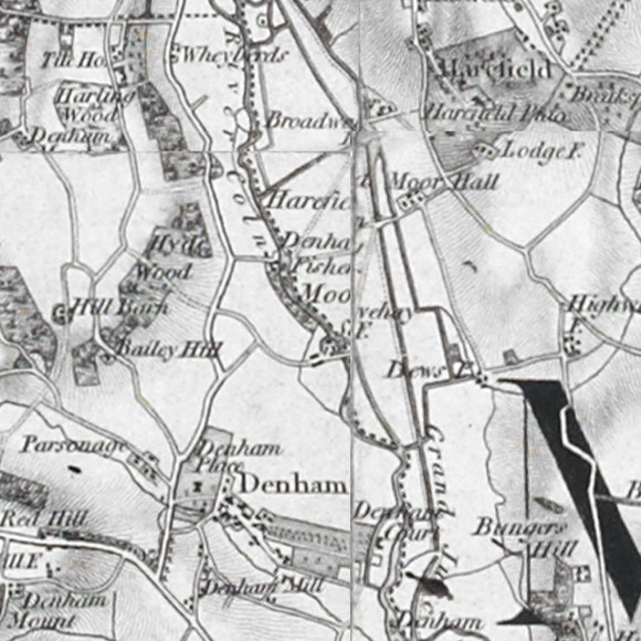 Ordnance Survey First Series map for South Harefield