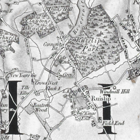 Ordnance Survey First Series map for Ruislip