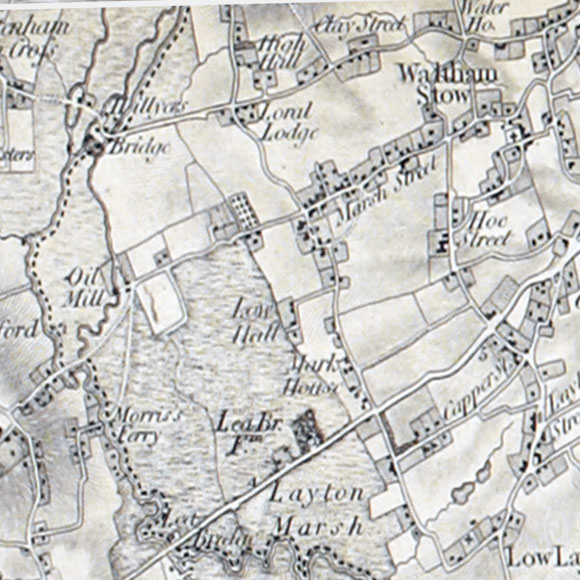 Ordnance Survey First Series map for Walthamstow, Leyton, Lea Bridge