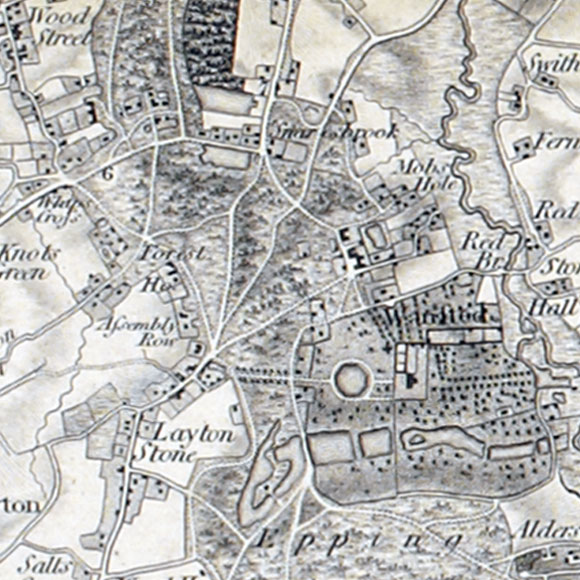 Ordnance Survey First Series map for Leytonstone, Snaresbrook