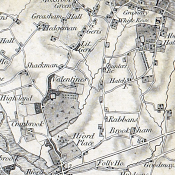 Ordnance Survey First Series map for Ilford, Newbury Park