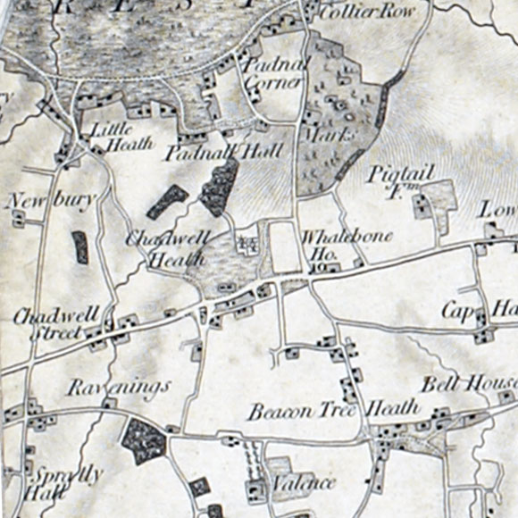 Ordnance Survey First Series map for Chadwell Heath, Crowlands