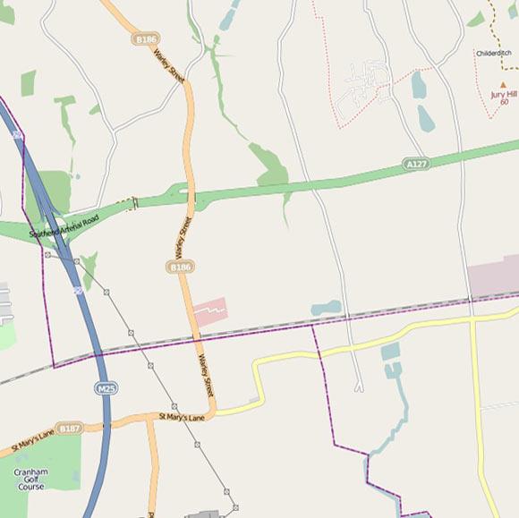 London map OpenStreetMap for Cranham