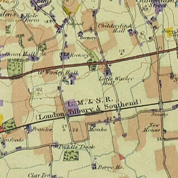 London map 1930s Land Utilisation Survey for Cranham