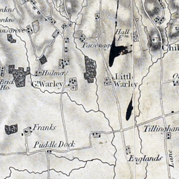 Ordnance Survey First Series map for Cranham