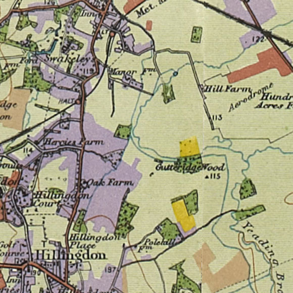London map 1930s Land Utilisation Survey for Hillingdon