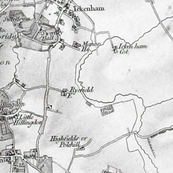 Ordnance Survey First Series map for Hillingdon