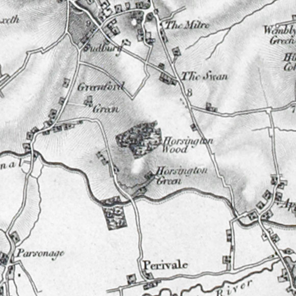 Ordnance Survey First Series map for Sudbury, Perivale