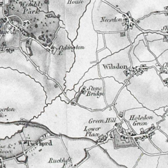 Ordnance Survey First Series map for Wembley, Neasden, Harlesden