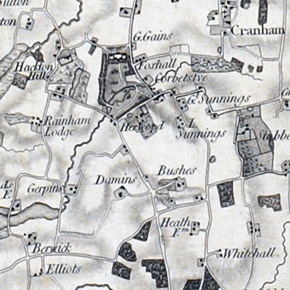 Ordnance Survey First Series map for Hacton, Corbets Tey