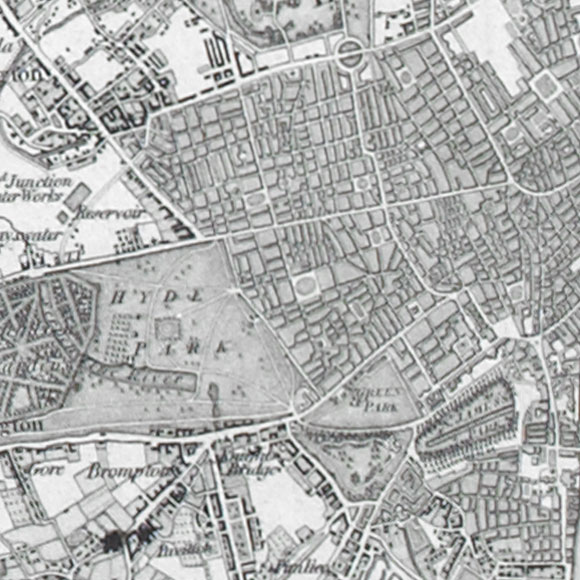 Ordnance Survey First Series map for Knightsbridge, West End