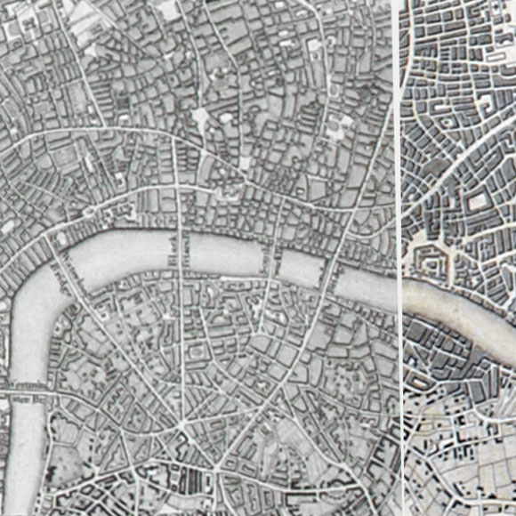 Ordnance Survey First Series map for City, Spitalfields, Waterloo, Borough